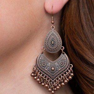 Music to My Ears Copper Earrings